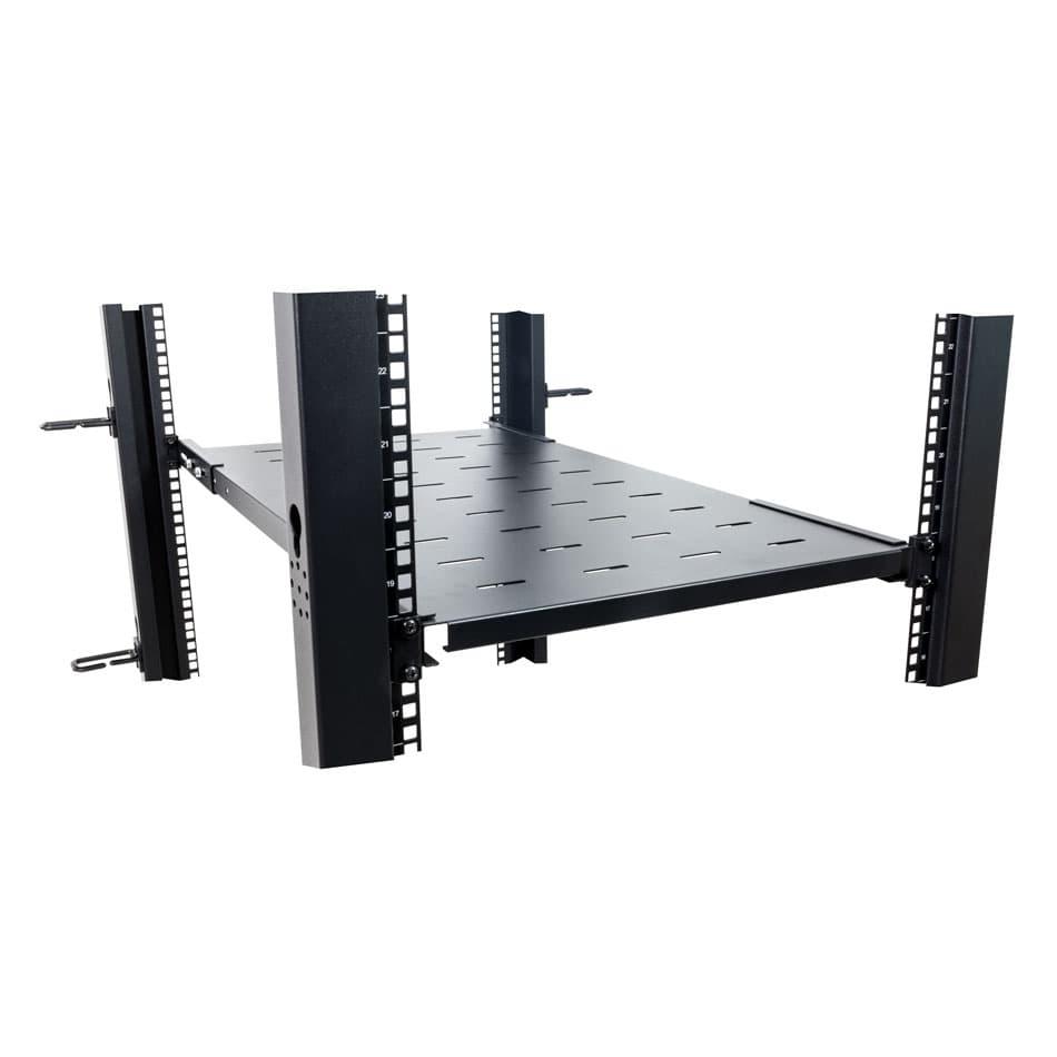 1U Adjustable Rack Shelf, 750 mm depth