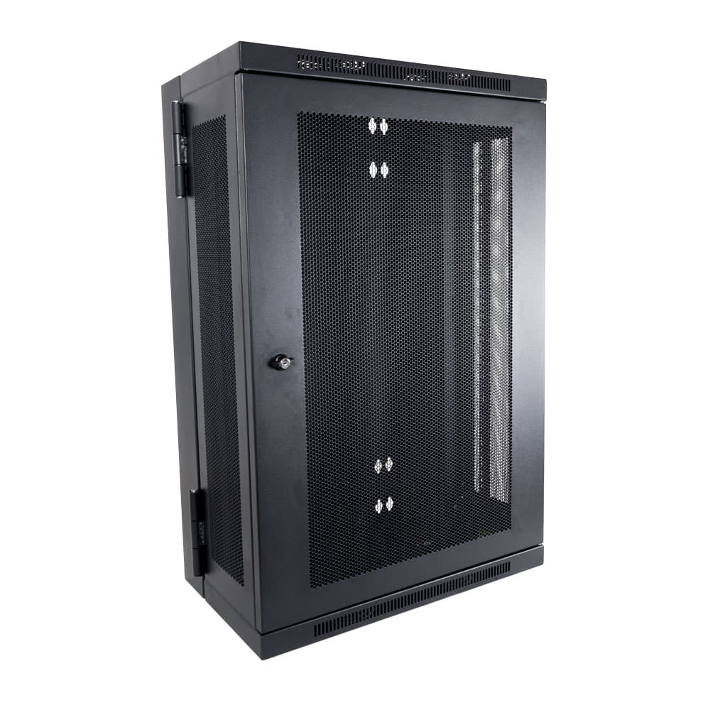 18U Enclosed 2 Post Rack Wall Mount
