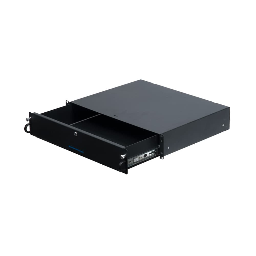2U Lockable Rackmount Drawer