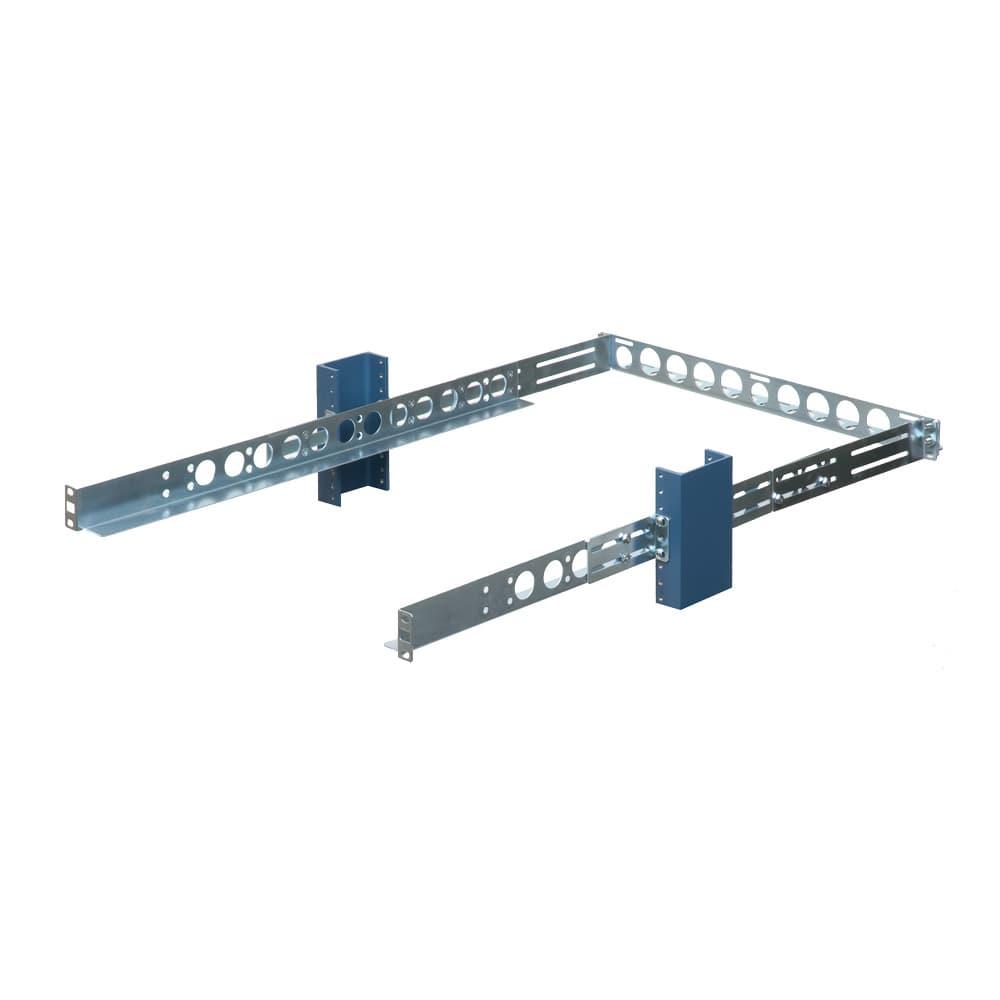 1U 2 Post Universal Rack Rails