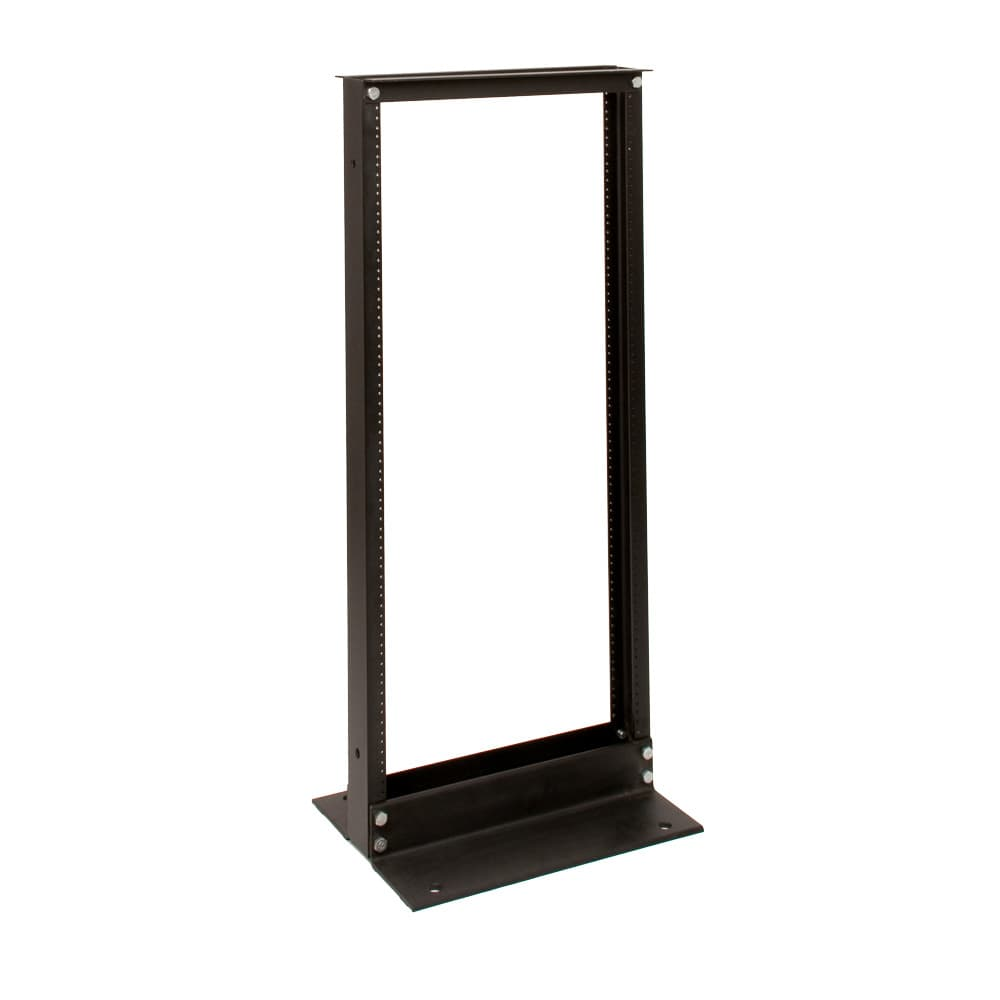 24U Telco 2 Post Rack Black Finish 12-24 Threads