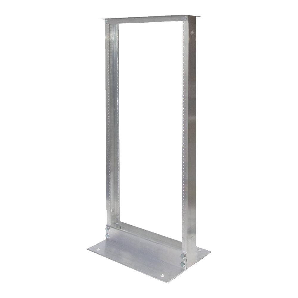 24U Telco 2 Post Rack Clear Finish 10-32 Thread